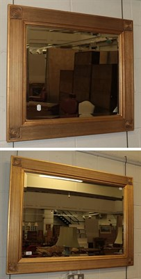 Lot 1067 - A modern rectangular gilt framed mirror 110cm by 80cm together with a smaller example 80cm by...
