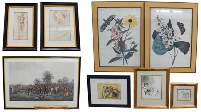 Lot 1049 - A large collection of 20th century prints after the Old Masters, to include botanical works,...