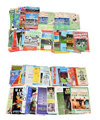Lot 3005 - England International Football Programmes including England v Scotland (1947, 1949, 1959) England v