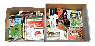 Lot 3008 - Manchester United A Collection Of Assorted Programmes dating from around 1970 onwards, together...
