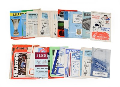 Lot 3010 - Tottenham Hotspur Football Programmes including Sheffield Wed v 1964, Chelsea v 1963, 2xFA Cup Semi