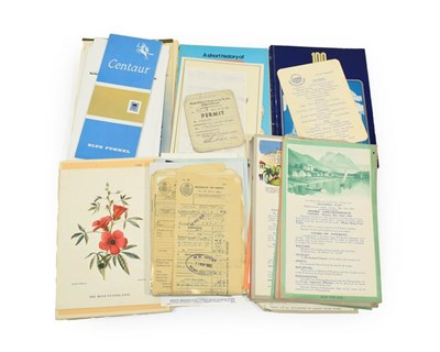 Lot 3019 - Blue Star Line Paperwork including 2xArandora Star cruise guides, deck plans Arandora Star,...