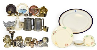 Lot 3021 - Canadian Pacific Lines Group Ceramics: large platter, plate, bowl, two handled cup and a glass...