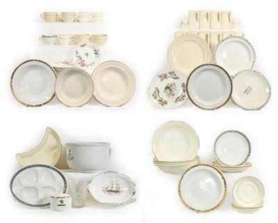 Lot 3024 - Cunard Ceramic Group ten cube coffee pots, Meat plate, chamber pot, four bowls, six side...