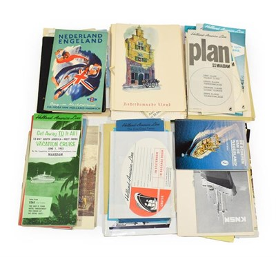 Lot 3029 - Dutch Shipping Paperwork including numerous menus for Rotterdamsche Lloyd, Holland-America...