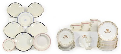 Lot 3030 - Ellerman Lines Ceramics Group two bowls, side plate, milk jug and two cups; Ellerman & Bucknall...
