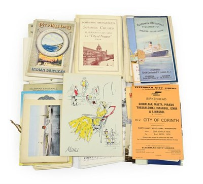Lot 3031 - Ellerman Lines Paperwork including List of Steamers 1937; Accommodation plans: City of Port...