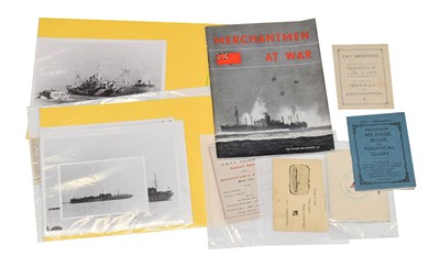 Lot 3037 - Merchantmen At War - The Official Story Of The Merchant Navy 1939-1944 together with Souvenir...