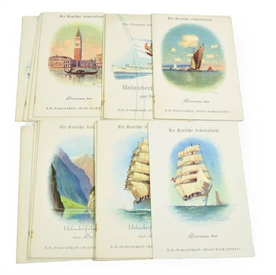 Lot 3038 - MV Wilhelm Gustloff A Set Of Thirteen Event/Menu Cards Relating To The Ships Seventh Voyage...