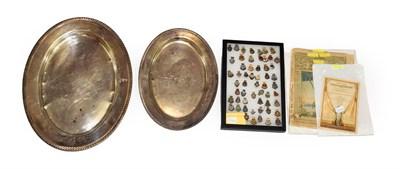 Lot 3039 - Naval Related Pin Badges including HMS Battleaxe, HMS Dorsetshire, HMS Warspite, HMS Valiant,...