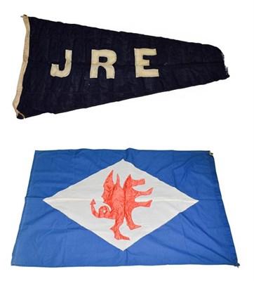 Lot 3051 - Shipping Line Flags (i) Anglesey Sg Co (Bangor) (ii) Ellerman pennant (2)
