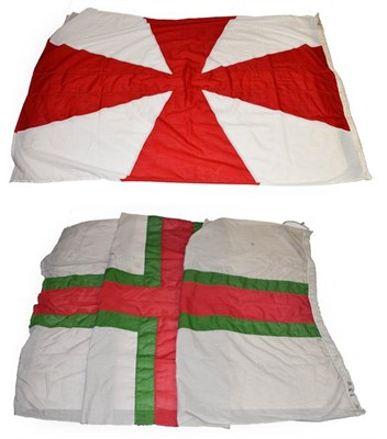 Lot 3054 - Shipping Line Flags (i) Harrison Line (ii) British & Irish (2)
