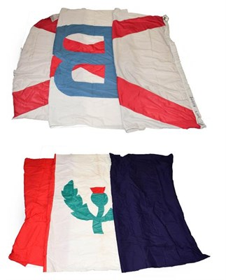 Lot 3055 - Shipping Line Flags (i) Hutchinson (ii) Booth Line (2)
