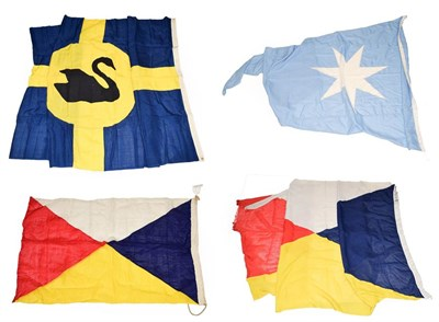 Lot 3056 - Shipping Line Flags two P&O one large, one small Maersk and Australini (4)