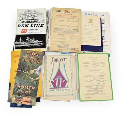 Lot 3058 - Shipping Paperwork Anchor Line: SS Britannia Fancy dress carnival leaflet 1933, SS Britannia...