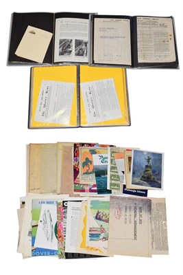 Lot 3059 - Shipping Paperwork including Bergen Steamship Company crossing th Artic Circle certificate, various