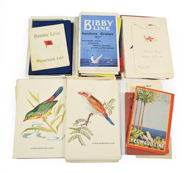 Lot 3061 - Shipping Paperwork Yeoward Line: Passenger lists Avoceta 1928 and 1931, Aguila 1923 and Alca...