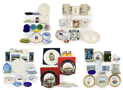Lot 3062 - Shipping Related Ceramics a collection of assorted mostly souvenir items and others