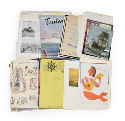 Lot 3069 - Shipping Related Paperwork from P&O,  and others including menus, brochures, booklets,...