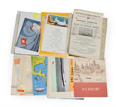Lot 3070 - Shipping Related Paperwork including 2xCruise Plans Lancastria, five 19th Century programmes...