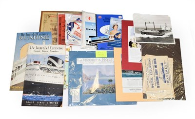 Lot 3072 - Shipping Related Paperwork including three Weekly Specials Queen Mary, Weekly Illustrated Queen...
