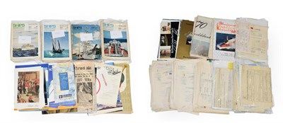 Lot 3073 - Shipping Related Paperwork including various share certificates and other documents, booklets...