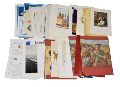 Lot 3074 - Shipping Related Paperwork mostly European examples including Andria Doria - Italy's Largest...