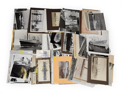 Lot 3075 - Shipping Related Photographs a collection of assorted balck and white examples
