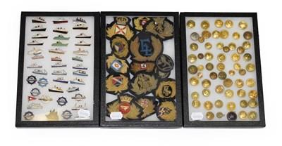 Lot 3076 - Shipping Related Pin Badges including Carinthia, Mauretania, Sylvania, Duchess of Montrose, The...