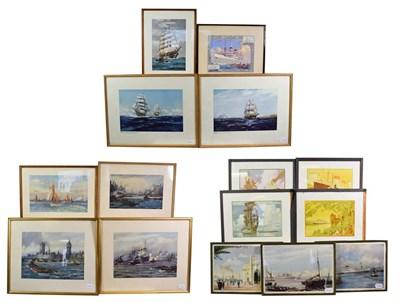 Lot 3078 - Shipping Related Prints E E Turner - Tunny Fishers off Ushant; Ellis Silas (Ellerman Lines): London