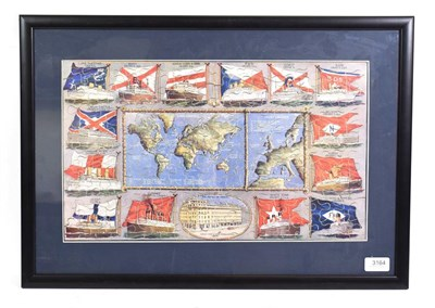 Lot 3081 - Thomas Cook Jigsaw depicting a central world map with 'Long' and 'Short' cruises marked...