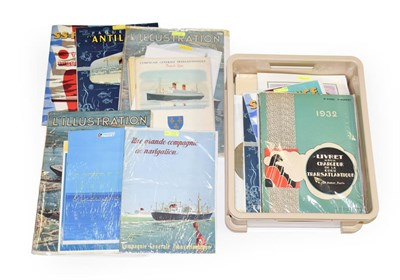 Lot 3084 - Various Large Booklets/Magazines Relating To French Ships including 4xL'Illustration about the...