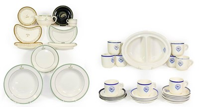 Lot 3085 - Various Shipping Ceramic Group Baron Lines: two section serving dish, nine cups and 14 saucers;...