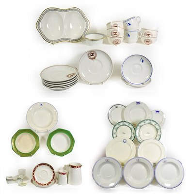 Lot 3090 - Various Shipping Companies Ceramic Group Cosens & Company: five small bowls and six saucers;...