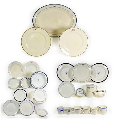 Lot 3091 - Various Shipping Companies Ceramic Group including a large platter, various plates and others