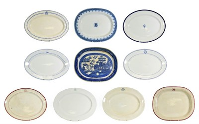 Lot 3094 - Various Shipping Companies Large Ceramic Platters with examples from Watts, Allan Line,...