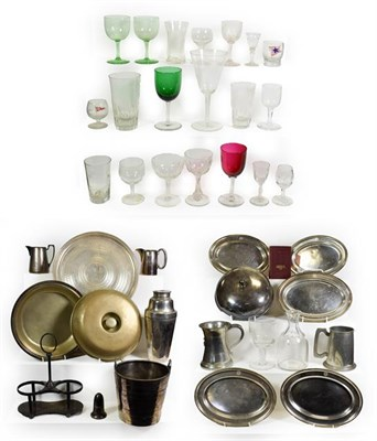 Lot 3095 - Various Shipping Companies Metalware Group Booth Steamship ice bucket and tray; Prince Line...