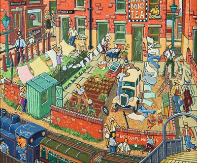 Lot 2089 - Joe Scarborough (b.1938) ''Hancock Crescent Gardens'' Signed and dated (19)93, oil on canvas,...