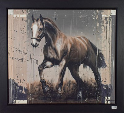 Lot 1000 - Kris Hardy (b.1978) ''Brown Horse II'' Signed, oil on canvas, 71cm by 81.5cm  Artist's Resale...