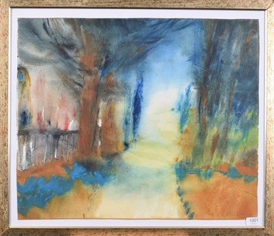Lot 1001 - Caroline Bailey (Contemporary) ''Yew Trees in the Wild Garden'' Signed, watercolour, 54cm by 64.5cm
