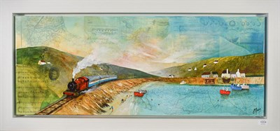 Lot 1004 - Keith Athay (Contemporary) ''To the Seaside'' Signed, acrylic on canvas, 40cm by 100cm...
