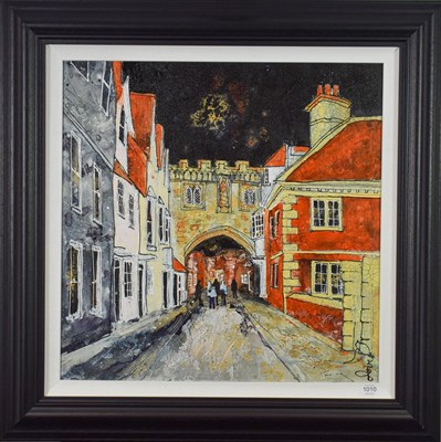 Lot 1010 - Katharine Dove (Contemporary) ''Salisbury North Gate II'' Signed, inscribed verso, acrylic on...
