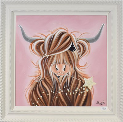 Lot 1016 - Jennifer Hogwood (Contemporary) ''Making a Wish II'' Signed, inscribed verso, mixed media on...