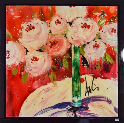 Lot 1018 - Danielle O'Connor Akiyama (Contemporary) Canadian ''Carousel of Love'' Signed, inscribed verso, oil