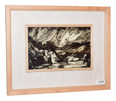 Lot 1048 - Allen Freer (b.1926) ''Berisford Dale Derbyshire'' Signed and inscribed verso, black ink and...