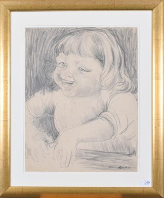 Lot 1049 - Sir Jacob Epstein KBE (1880-1959)  Study of a young girl possibly the artist's daughter Jackie...
