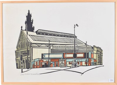 Lot 1052 - Willie Rodger RSA RGI (1930-2018) ''Glasgow Fish Market'' Signed and numberd 21/25, inscribed, wood