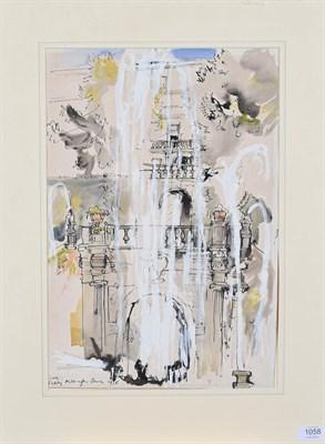 Lot 1058 - Teddy Millington Drake (1932-1994)  ''Tivoli''  Signed, inscribed and dated 1958, mixed media, 51cm