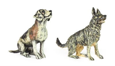 Lot 1073 - April Shepherd (Contemporary) ''Raring to Go'' and ''Paying Attention'' ''Raring to Go'' is AP...