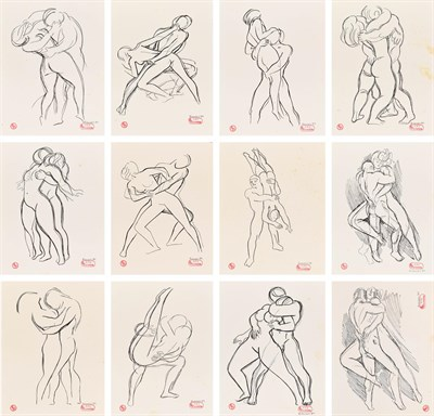 Lot 1080 - Ernest Hansen (19th/20th century) Danish Set of forty prints from the Erotika Series Each...